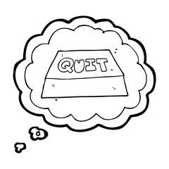thought bubble cartoon quit button