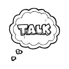 thought bubble cartoon talk symbol