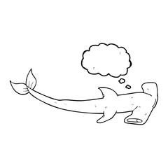 thought bubble cartoon hammerhead shark