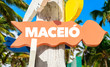 """Detaily fotografie Flag Cartoon Character 103649359,Maceio welcome sign with palm trees"""""""