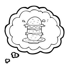 thought bubble cartoon burger