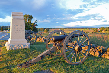 Driving tour at Gettysburg National Battlefield, Pennsylvania