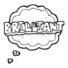 brilliant thought bubble cartoon word