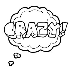 thought bubble cartoon shout crazy