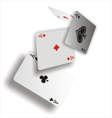 Magic poker aces