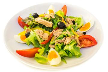 Tuna salad on the plate