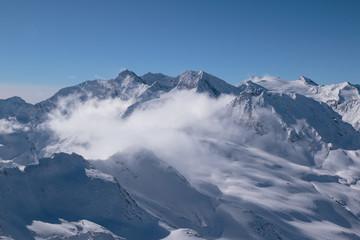 Gebirge in Obergurgl / Hochgurgl im Winter