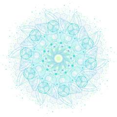 Sacred geometry symbols and elements mandala.