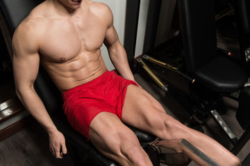 Workout Leg Exercises Close Up