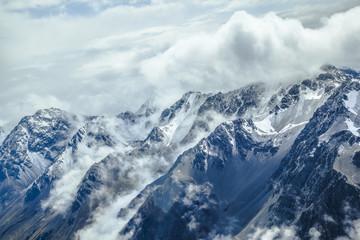 Mount Cook und die Südalpen von oben
