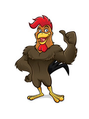 Cartoon Rooster Thumb Up