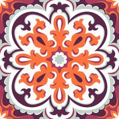 Beautiful ornamental tile background.