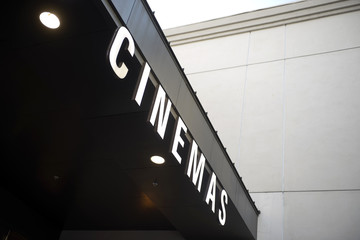 cinema sign.