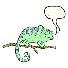 comic book speech bubble cartoon chameleon
