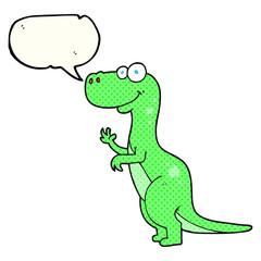 comic book speech bubble cartoon dinosaur