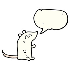 comic book speech bubble cartoon mouse