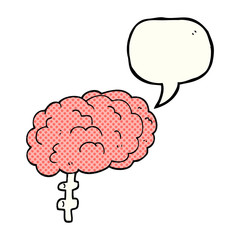 comic book speech bubble cartoon brain
