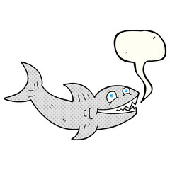 comic book speech bubble cartoon shark