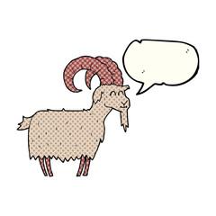 comic book speech bubble cartoon goat