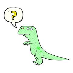 comic book speech bubble cartoon confused dinosaur