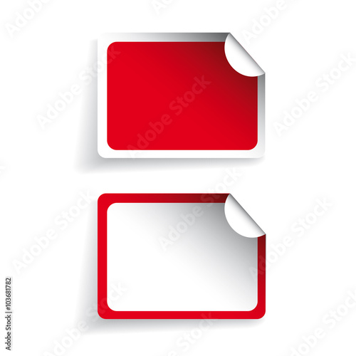 Blank labels or stickers vector