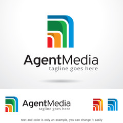 Agent Media Logo Template Design Vector