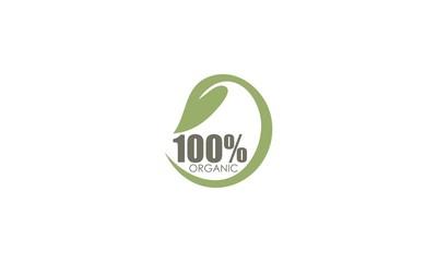 100 % organic business logo