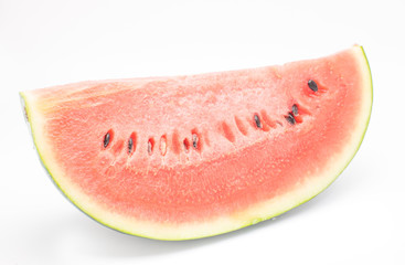 Slice of watermelon on white background