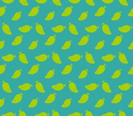 Mango pattern colorful seamless illustration isolated on blue background