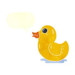 retro speech bubble cartoon rubber duck
