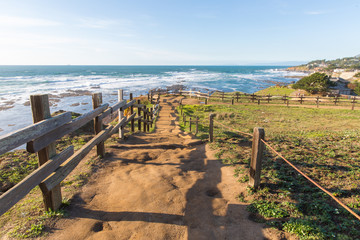 Path to the Beach, Pacific Ocean in California