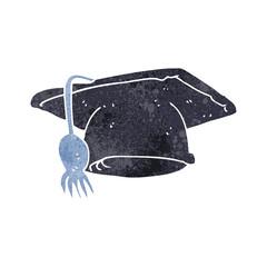 retro cartoon graduation cap
