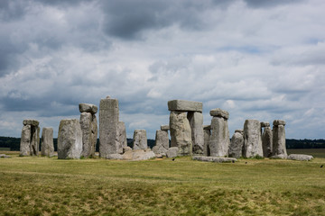 Stonehenge with cloudy sky and nobody