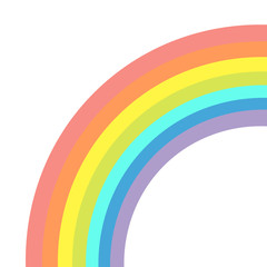 Rainbow on white background. Isolated. Flat design.
