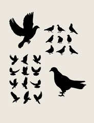Dove Silhouettes, art vector design