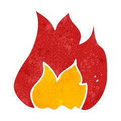 retro cartoon fire symbol