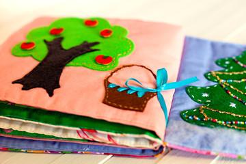 soft book for children handmade, needlework