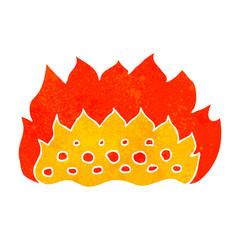 retro cartoon flames
