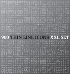 Thin line icons exclusive XXL collection