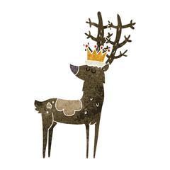 retro cartoon stag king