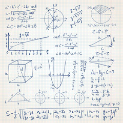 Math sketchy background