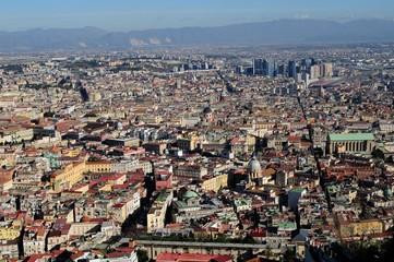 Vista della città di Napoli da Castel Sant'Elmo