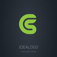 CS initial logo. CS initial monogram logotype. Vector design ele