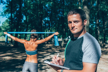 Personal fitness coach. Toned image