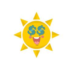 Cute sun.