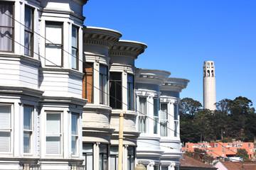 San Francisco / Coit tower vu de Haight-Ashbury
