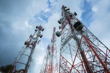 .Telecommunication mast TV antennas