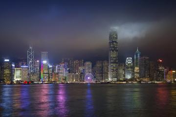 Hong Kong. Image of Hong Kong skyline at night.