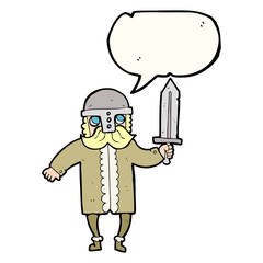 speech bubble cartoon saxon warrior