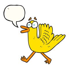 speech bubble cartoon flapping duck